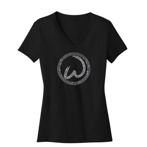 Ladies V-Neck Bling Tee