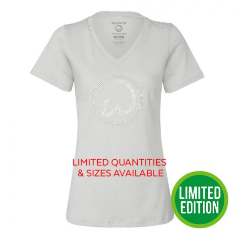 White Ladies Bling Tee